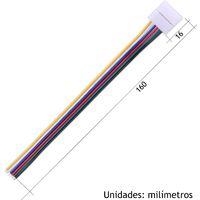 Jandei Conector tira led RGBW WW 16cm 6 hilos presión cable
