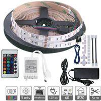 Jandei Kit Tira LED RGB 5 MTS 60 LEDs 5050 SMD Más Conectores Para Interconectar Tira