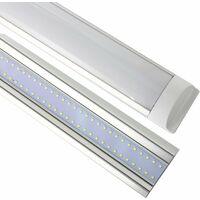Jandei 2X Regleta LED, 36W 120cm, Luz Blanca Fría 6000K, Protección IP20 Para Interior, Equivalente A 2 Tubos Fluorescentes 3600 Lúmenes