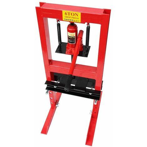 Varan Motors - NESP-06 Presse d'atelier hydraulique, 6 Tonnes avec piston - Rouge