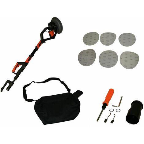 Varan Motors - dmj-700C Ponceuse à bras girafe téléscopique 710w pour plâtre et plaque de plâtre, plafonnage à transmission automatique - Noir
