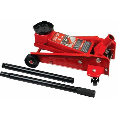 Varan Motors - NEFJ-03 Cric hydraulique roulant 3 tonnes 135-495mm - Rouge