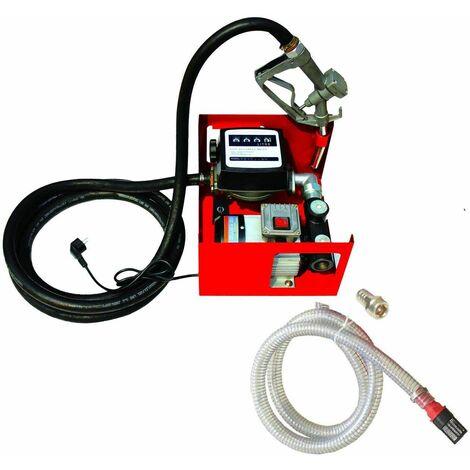 Varan Motors - NEEP-02 Pompe à fuel ou gasoil autoaspirante mobile, 230V 60l/min - 550W - Pistolet à Blocage Manuel - Rouge