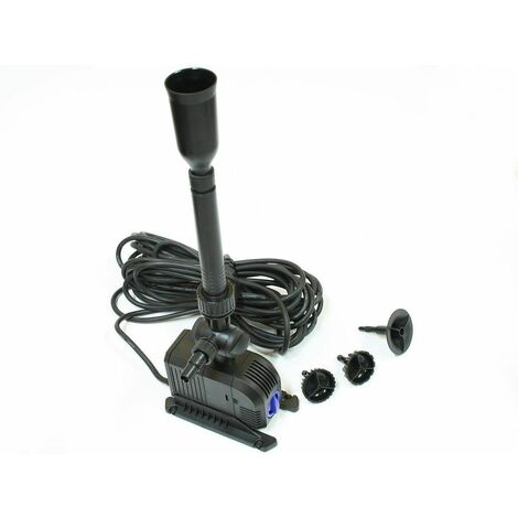 Varan Motors - HJ-1503 Pompe pour fontaine, bassin, étang jusqu'à 1500l/h 25W, 1.8m de refoulement - Noir
