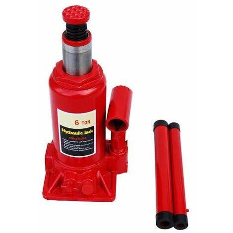 Varan Motors - NEBJ-03 Cric hydraulique bouteille 6 tonnes 355mm - Rouge
