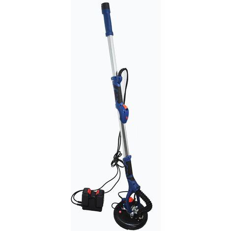 Varan Motors - M40-DWS-01 Ponceuse à bras girafe sans fils, sur batterie 40V 4Ah avec rallonge pour plâtre et plaque de plâtre - Bleu
