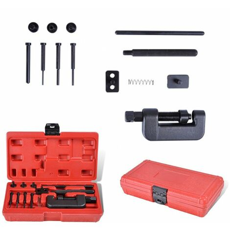 Varan Motors - VT01420 Kit rive dérive chaîne transmission distribution 13 pièces - Noir