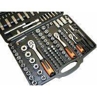 Varan Motors - VT13019 Coffret clés à cliquets 171 pièces 1/2'', 3/8'', 1/4'', jeu de douilles - Noir