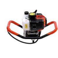 Varan Motors - TT-GD520B TARIERE Thermique essence 3CV 52CC + 3 sabots de forage (100 150 200mm), EU2 - Orange