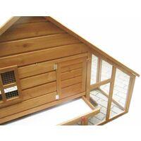 Bc-elec - 5663-0553 Cage pour Lapin, Clapier en bois avec porte et tiroir, 136 x 118 x 61cm - Brun