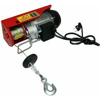 Varan Motors - var-PA400M Treuil palan électrique 230V 200 / 400KG 950W avec télécommande - Rouge