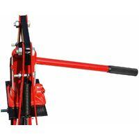 Varan Motors - NESP-06-2 Presse d'atelier hydraulique, 6 Tonnes avec piston - Rouge