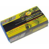 Varan Motors - NESWS-01 Coffret de 34 embouts Torx 1/4'' 3/8'' 5/16'' T10-T60 E4-E20 - Gris