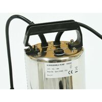 Varan Motors - TP01111 Pompe à eau immergée pour eaux sales - graviers 35mm 1100W / 14000l/h - Gris