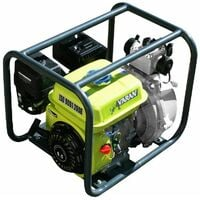 Varan Motors - 92703 Pompe à eau thermique 2'' haute pression 45.000 l/h Essence, 196cc 6.5cv, motopompe - Gris