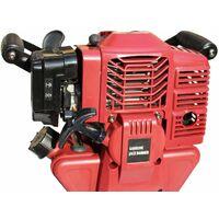 Varan Motors - NEGJH-04 Marteau piqueur burineur Marteau de Démolition Thermique 52cc 2.4CV 55 joules + 2 burins - Rouge