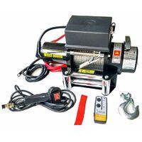 Varan Motors - SC6.0X Treuil électrique 12V 2721KG 3300W, Treuil à câble longueur 20m Ø7.2mm - Noir