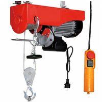 Varan Motors - PA1000M-1300 Treuil palan électrique 230V 500 / 1000KG 1300W avec télécommande - Rouge