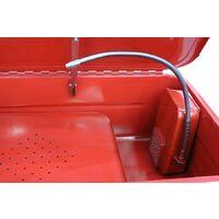Varan Motors - NEPW-02 Fontaine de nettoyage d'atelier électrique 76Litres 230V bac de nettoyage - Rouge