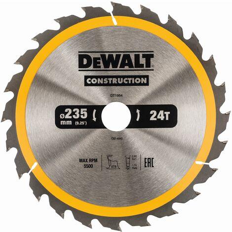DeWALT Lame de scie circulaire, 235/30 mm, 24 dents - DT1954-QZ