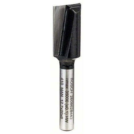 Bosch Fraise à rainurer droit 6mm, D1 12,7mm, L 19,5mm, G 51mm - 2608628443