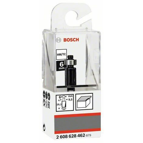 Bosch Fraises à rainurer laminées 6mm, D1 9,5mm, L 12,6mm, G 56mm - 2608628462
