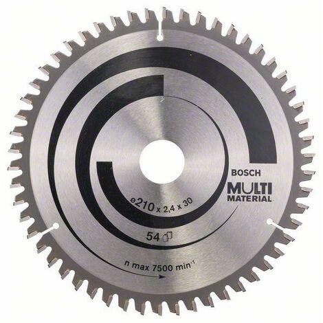 Bosch Professional Lame de scie circulaire Multi Material, 210 x 30 x 2,4 mm, 54 - 2608640511