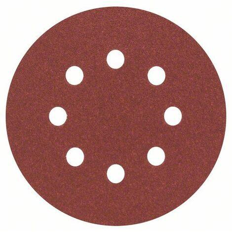 Bosch Professional Feuilles abrasives, set de 5 pièces 125 mm, 100