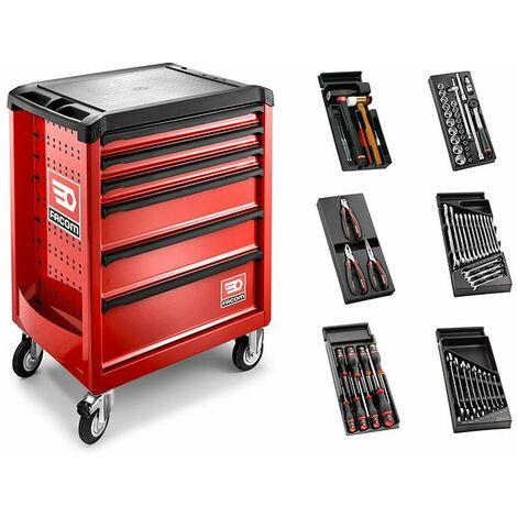Facom ROLL Servante d'atelier 6 tiroirs et 6 modules - SL.ROLL.6M3