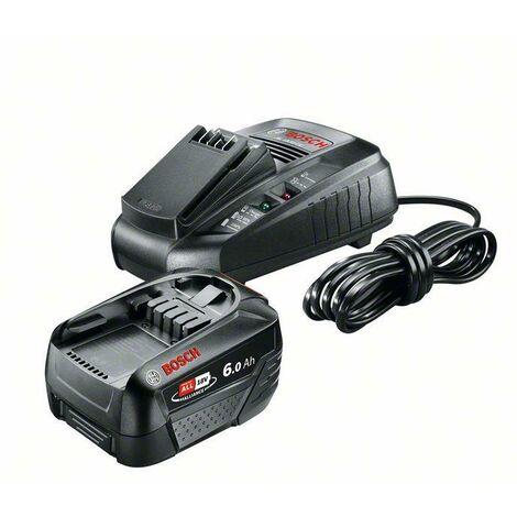 Bosch Pack de base 18V, 1 x chargeur AL 1830 CV, 1 x batterie PBA 18 V 6,0 Ah W-C - 1600A00ZR8