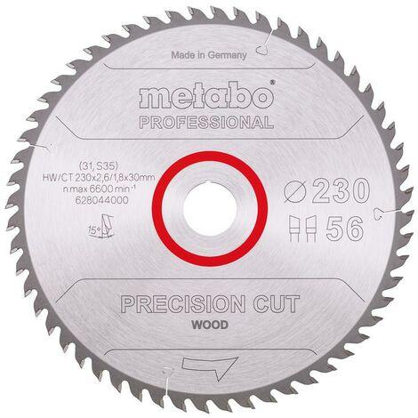 Metabo Lame de scie 'Precision cut wood - Professional', 230x30, Z56 WZ 15° - 62804400