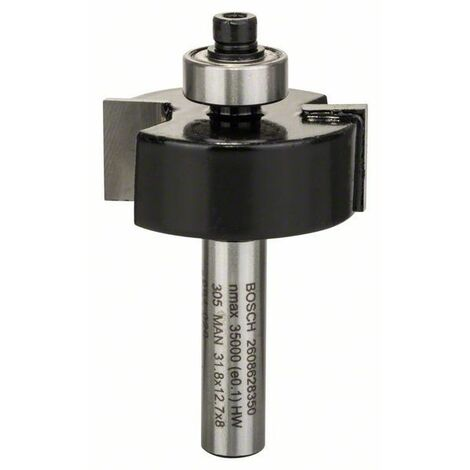 Bosch Fraise à feuillurer 8 mm, B 9,5 mm, D 31,8 mm, L 12,5 mm, G 54 mm