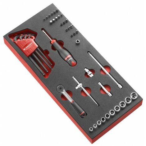 """Facom Module mousse douilles 1/4"""" 6 pans métriques - 46 pièces - MODM.R161-36"""