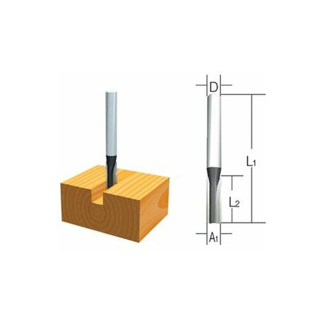 Makita Fraises droites 1 taillant 6mm - D-10039