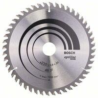 Bosch Professional Lame de scie circulaire Optiline Wood, 210 x 30 x 2,8 mm, 48 dents - 2608640623
