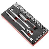 """Facom Module mousse douilles 1/2"""" 6 pans métriques - 23 pièces - MODM.SL161-36"""