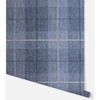 Paste the Wall Vinyl Check Arthouse Country Tartan Demin Blue Wallpaper 294902