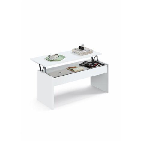 Mesa Elevable en acabado de varios colores 47-58 cm(alto)100 cm(ancho)50 cm(largo) Color Blanco/Blanco