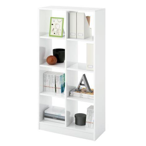 Estanteria Turin cubos 2 x 4 dos colores a elegir 131 cm(alto)66 cm(ancho)32 cm(fondo). Color Blanco brillo