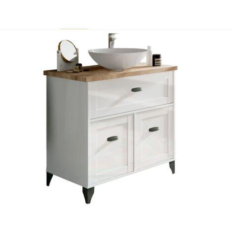 Mueble de lavabo Toscana en acabado color blanco 95 cm(alto)85 cm(ancho)47 cm(largo) Color Blanco/Cambrian