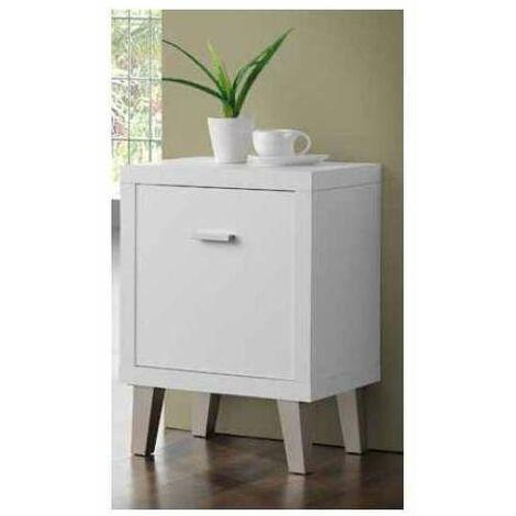 Mesita Auxiliar Venecia 1 puerta en acabado color blanco 94 cm(alto)80 cm(ancho)30 cm(largo) Color Blanco