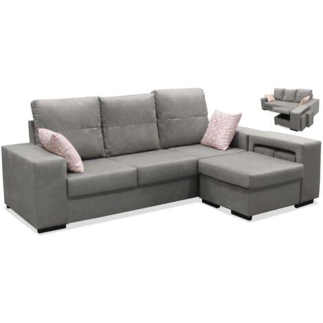 Sofa con chaiselonge Bea dos colores a elegir 230 cm(ancho) 95 cm(altura) 150 cm(fondo).. Color Beige