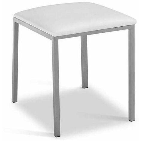 Pack 4 taburetes de cocina o comedor 3 colores distintos 40 cm(alto)33 cm(ancho)33 cm(largo) Color Blanco
