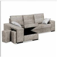 Sofa con chaiselongue Bea dos colores a elegir 230 cm(ancho) 95 cm(altura) 150 cm(fondo).. Color Gris