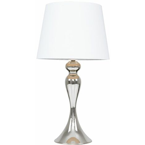 MiniSun - Touch Table Lamp in Chrome - White