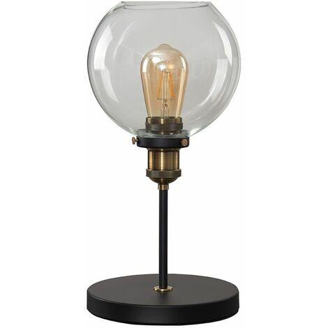 MiniSun - Sheridan Table Lamp With Clear Glass Shade - No Bulb