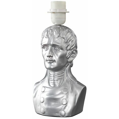 Character Bust Table Lamp Base - Silver - Silver