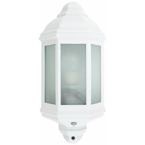 MiniSun - IP44 Wiltshire Outdoor Wall Light Dusk Till Dawn - White