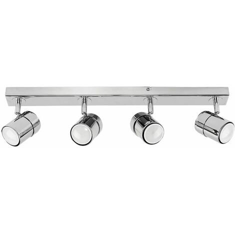MiniSun - Adjustable 4 Way Ceiling Spotlight Fitting - Chrome