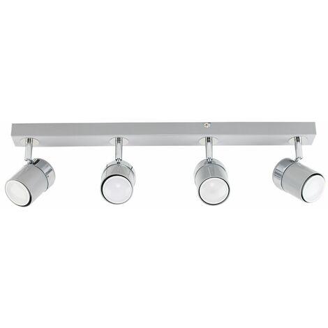 MiniSun - Adjustable 4 Way Ceiling Spotlight Fitting - Grey